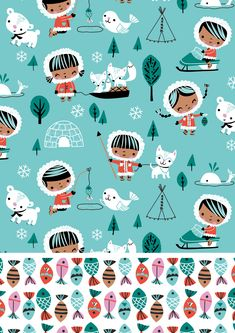 Inga Wilmink for Jo-Ann Stores - Eskimo fabric