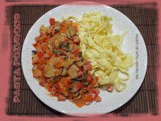 Ma nouvelle façon de cuisiner: pâtes poivrons champignons