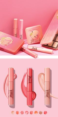 We're *so* excited about Too Faced's latest peachy drop! Sweet Peach, On The High Street, Hair Makeup, Product Launch, Hair Beauty, Lipstick, Colours, Drop, News