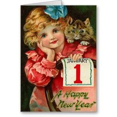 Vintage New Year Postcard Happy New Year Victorian Christmas, Vintage Christmas Cards, Christmas Images, Vintage Holiday, Christmas Art, Holiday Cards, Christmas 2019, Winter Christmas, New Year Greeting Cards