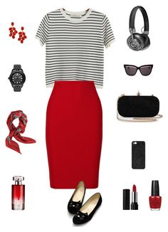 """""""8"""" by sungin-cho on Polyvore featuring Chicnova Fashion, Roland Mouret, Master & Dynamic, Christian Dior, BaubleBar, Valentino, Kat Von D, Lancôme, OPI and adidas Originals"""