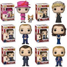 Funko Pop Royals : Queen Elizabeth, Kate, Prince, William , Set or Individual Funk Pop, Funko Pop Figures, Vinyl Figures, Funko Pop Dolls, English Royal Family, Pop Toys, Pop Television, Pop Collection, Funko Vinyl