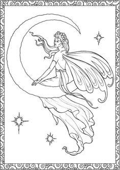 Amazon Creative Haven Enchanted Fairies Coloring Book Adult 0499995300569