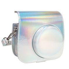 Queen3C Aurora Silver Mini 9 Camera Case Bag for Fujifilm Instax Mini 9 Mini8 Mini8+ Instant Camera Instax Mini 9, Fujifilm Instax Mini, Spy Weapons, Work Desk Decor, Makeup Kit For Kids, Clay Keychain, Makeup Remover Wipes, Sunglasses Women Designer, Gas And Electric