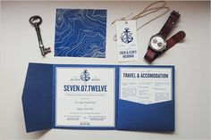 Loving these nautical wedding invites.  So crisp - and perfect for an island wedding.