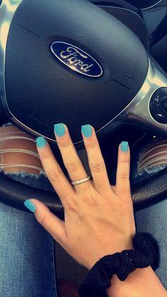 #nails #acrylic #square #babyblue #blue #short #ad