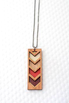 Chevron Stripe Necklace in Multiple Colors / Geometric Jewelry / Color Block
