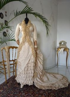 Grand Wedding Gown from Paris, 1883