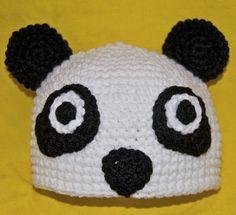 Crochet Panda Hat