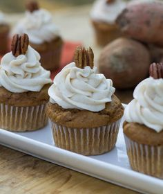 Super moist and yummy sweet potato cupcakes with cream cheese frosting ...