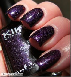 Light Your Nails!: Kiko 255  #purple #holographic #glitters #Kiko