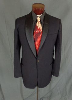 Vintage After Six by Rudofker Black Tux/Smoking Style Blazer Jacket - Size 46 #AfterSixbyRudofker #Doyoureallyneedone