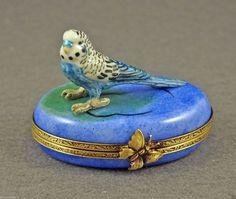 NEW Authentic French Limoges BOX Blue Parrot Parakeet Bird Budgie Budgerigar | eBay
