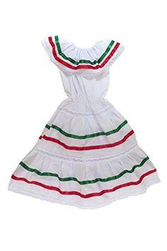5c6d785da84 Mexican Clothing Co Womens Mexican Fiesta Dress Poplin one size Black Midi  1445 at Amazon Women s Clothing store