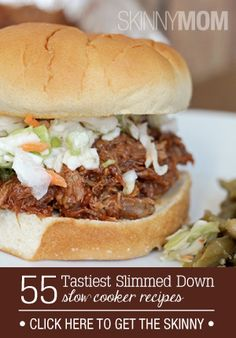 55 Tastiest Slimmed Down Slow Cooker Recipes - Skinny Mom - Warm up your house with these recipes! Tasty Vegetarian Recipes, Good Healthy Recipes, Ww Recipes, Easy Healthy Recipes, Pork Recipes, Slow Cooker Recipes, Crockpot Recipes, Cooking Recipes, Skinny Recipes