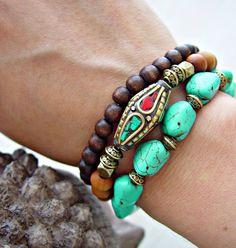 Boho Gypsy Bracelet Boho Jewelry Yoga by HandcraftedYoga on Etsy Gypsy Bracelet, Hippie Bracelets, Tribal Jewelry, Bohemian Jewelry, Beaded Bracelets, Western Jewelry, Jewelry Crafts, Jewelry Art, Handmade Jewelry