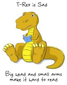 T-Rex Is Sad   T-Rex's Short Arms   Know Your Meme