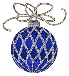Christmas Blue and Silver Ornament Clipart