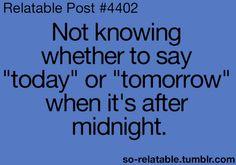 Night shift problems.