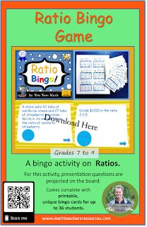 TenTors Math Teacher Resources: Ratio Activity