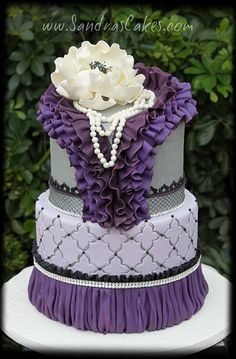 #KatieSheaDesign ♡❤ ❥ Purple Ruffles