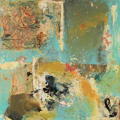 Marti Somers | Butterflies Are Free, 30 x 30 mixed media on panel