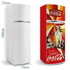 geladeira adesivada coca cola - Pesquisa Google