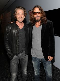 Gerard Butler & Chris Cornell - both talented, attractive and tall!