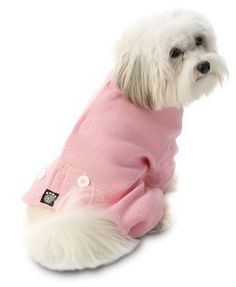 PetRageous Cozy Thermal Pajamas for Pets, Small, Pink with White Stitching - http://www.thepuppy.org/petrageous-cozy-thermal-pajamas-for-pets-small-pink-with-white-stitching/