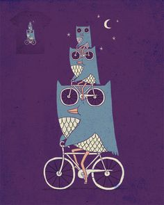 Really racking up the owl imagery, Flick Schiller. Better catch up, darling. This one from ilovedoodle's Etsy shop. Owl Illustration, Illustrations, Love Doodles, Owl Always Love You, Wise Owl, Bike Art, Owl Art, Bird Feathers, Art Prints