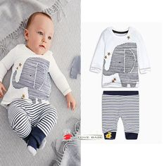 $8.82 4PCS/LOT+2016 Baby Boys Clothing Sets Elephant Print Autumn Spring Casual white Children Clothes Tshirt Pants 2 Pieces Sets Kids Tracksuit  http://www.dhgate.com/store/product/4pcs-lot-2016-baby-boys-clothing-sets-elephant/380787725.html