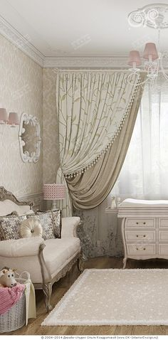 Интерьер детской в стиле модерн  http://www.ok-interiordesign.ru/ph23_textile_design.php
