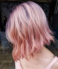 Neue Bob Frisuren 2019 New Bob Hairstyles 2019 New Hair Color Trends, New Hair Colors, Cool Hair Color, Charcoal Hair, Bob Hairstyles 2018, Pastel Pink Hair, Hair Color Techniques, Rose Hair, Hair 2018