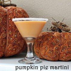 Pumpkin Pie Martini:  1oz pumpkin liqueur + 1/2oz buttershots + 1/2oz baileys + 1/2oz cream + splash cinnamon sugar // shake w/ice