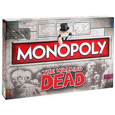 """Gra planszowa The Walking Dead - Monopoly   Idealne połączenie dla fanów Monopoly i serialu """"Żywe trupy"""". Zabawa i horror jednocześnie. Gwarantowana znakomita rozrywka.   Liczba graczy: od 2 do 6 Czas gry: od 1 do 2 godzin Wiek: 13+ Język: angielski"""