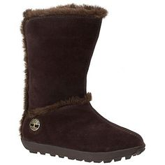"""Timberland  Mukluk 10"""" Boot ($110) ❤ liked on Polyvore featuring shoes, boots, brown, leather shoes, waterproof leather boots, brown leather shoes, real leather boots and waterproof leather shoes"""