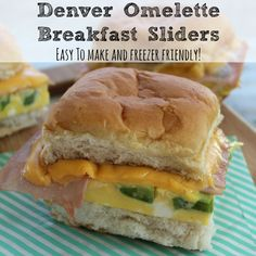 Denver Omelette Breakfast Sliders - Easy To Make and Freezer Friendly side