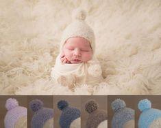 Handmade Crochet Delicate Lace Satin Beige baby Bonnet Photo Prop NB /& 0-3 m