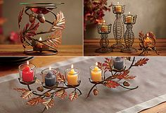 You can get this from Helen Moore - Falling Leaves Collection - Centerpiece, Votive Holder, and Fragrance Warmer Fall Decor, Holiday Decor, Fall Candles, Votive Holder, Canada, Fall Harvest, Happy Fall, Hostess Gifts, Fall Halloween