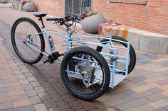 Afbeeldingsresultaat voor t-cargo bike torpille Tricycle Bike, Trike Bicycle, Three Wheel Bicycle, Electric Cargo Bike, Velo Cargo, Reverse Trike, Drift Trike, Bike Trailer, Bike Frame