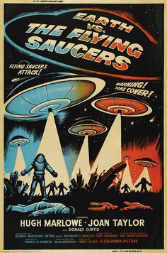 Earth vs The Flying Saucers! Brilliance on a Budget. How Columbia Pictures did it right, with Ray Harryhausen, instead of a Special Effects house from Mexico! Great Stuff and played straight...