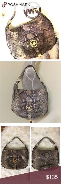 1a844e7487f Authentic Michael Kors Python Purse Guaranteed Authentic large Michael Kors  python snake print handbag