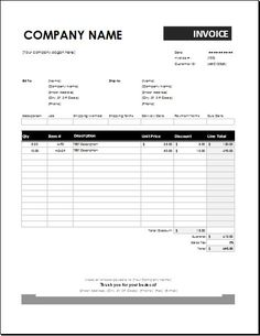 Hourly Service Freelance Excel Invoice Template With Minutes