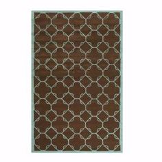 Home Decorators Collection Dresden Chocolate/Blue 2 ft. 6 in. x 4 ft. 6 in. Area Rug  on  Daily Rug Deals
