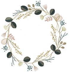Flower Crown by Clare Owen, illustration, design, drawing, painting, wreath