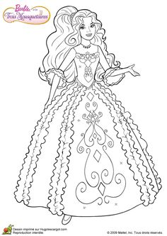 Barbie and Three Musketeers. Barbie coloring page.198