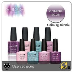 New release CND Aurora Collection Shellac and Vinylux coming soon. Nails by Kirstie.