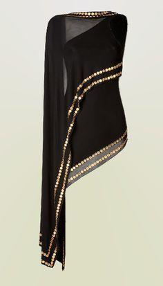 Así me gustaría un top, muy elegante. Sensual me gusta más que sexy//Donna Karan coin embellished top