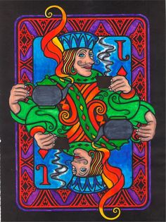 Timothy G (Under 12 division) from Wild Cards Stained Glass Coloring Book: http://store.doverpublications.com/0486474518.html