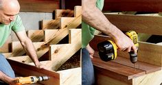 How to Build Stairs - Easy Steps Building Stairs - Popular Mechanics (Stairs to outside in basement need to be repaired) How To Make Stairs, How To Build Steps, Outdoor Projects, Home Projects, Building Stairs, Patio Steps, Wood Stairs, Attic Stairs, Tips & Tricks